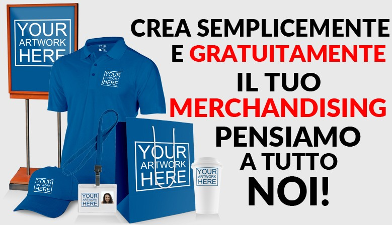 Crea il tuo Merchandising